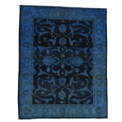 One-of-a-Kind Kells-Connor Overdyed Oriental Hand-Knotted Area Rug