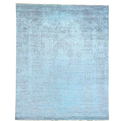 One-of-a-Kind Kendrick Broken Oriental Hand-Knotted Silk Area Rug