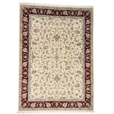 One-of-a-Kind Salzer 250 Kpsi Sino Oriental Hand-Knotted Silk Area Rug
