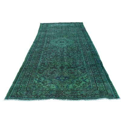 One-of-a-Kind Greenawalt Overdyed Hamadan Worn Hand-Knotted Area Rug
