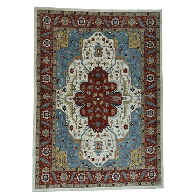 One-of-a-Kind Rueter Peshawar Oriental Hand-Knotted Area Rug