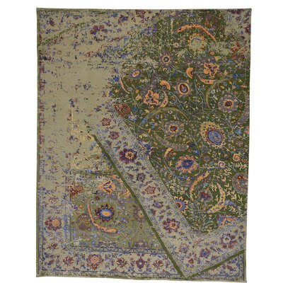 One-of-a-Kind Kendrick Oidized Broken Hand-Knotted Silk Area Rug