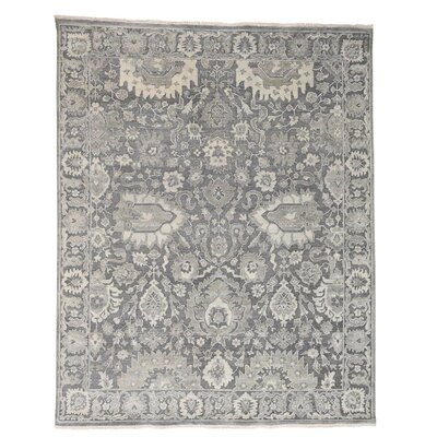 One-of-a-Kind Ledford Oidized Influence Oriental Hand-Knotted Silk Area Rug