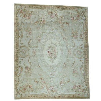 Charles and Plush Savonnerie European Hand-Knotted Ivory Area Rug