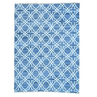 Kilim Hand-Knotted Blue Area Rug