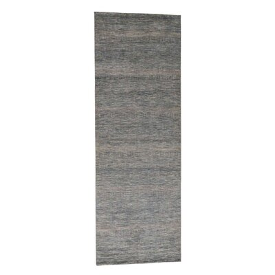 Grass Hand-Knotted Silk Blue Area Rug