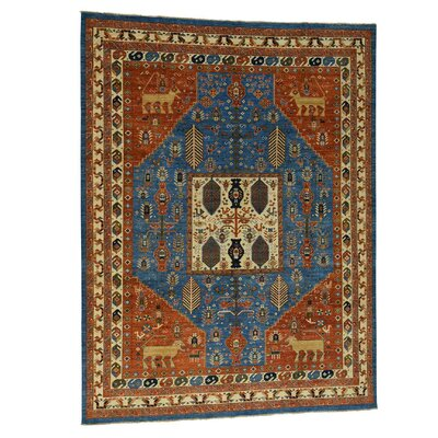 One-of-a-Kind Greear Ancient Animal Hand-Knotted Area Rug