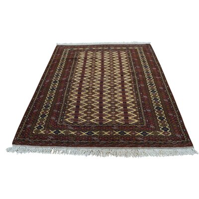 One-of-a-Kind Gowen Bokara Oriental Hand-Knotted Area Rug