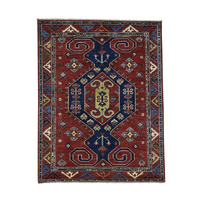Afghan Ersari Oriental Hand-Knotted Wool Red Area Rug