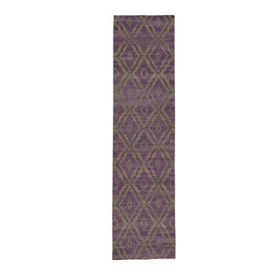 Flat Weave Durie Kilim Reversible Hand-Knotted Purple Area Rug