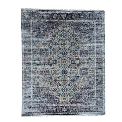 One-of-a-Kind Grahm Abrash Oriental Hand-Knotted Silk Area Rug