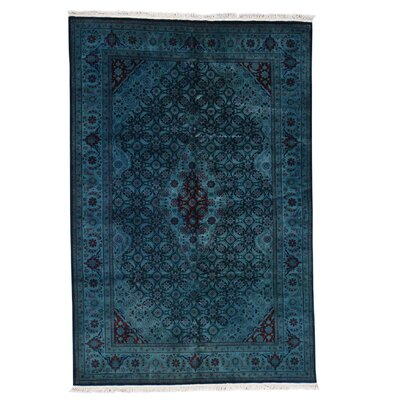 One-of-a-Kind Kenilworth Overdyed Mahi and Plush Oriental Hand-Knotted Area Rug