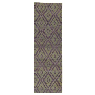 Durie Kilim Flat Weave Reversible Hand-Knotted Purple Area Rug