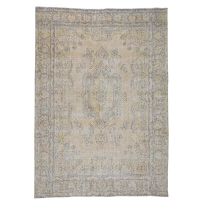 One-of-a-Kind Salmons Vintage Oriental Hand-Knotted Area Rug