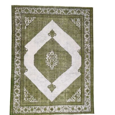 One-of-a-Kind Kenilworth Overdyed Medallion Vintage Hand-Knotted Area Rug