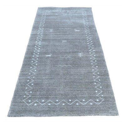One-of-a-Kind Jacqueline Modern Oriental Hand-Knotted Silk Area Rug