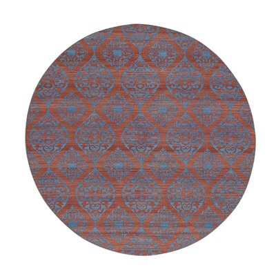 Durie Kilim Flat Weave Reversible Oriental Hand-Knotted Pink Area Rug