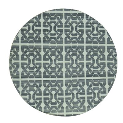 Durie Kilim Flat Weave Reversible Hand-Knotted Black Area Rug