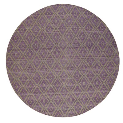 Flat Weave Durie Kilim Reversible Oriental Hand-Knotted Purple Area Rug