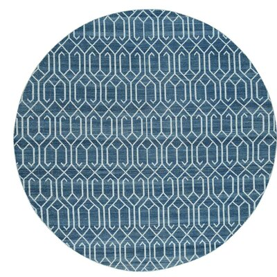 Flat Weave Durie Kilim Reversible Hand-Knotted Ivory Area Rug