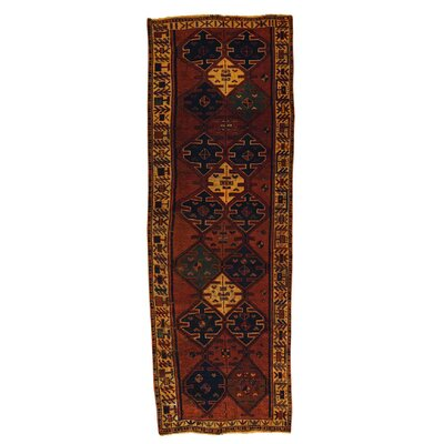 Brown Overdyed Shiraz Hand-Knotted Brown Area Rug