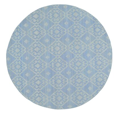 Reversible Flat Weave Durie Kilim Oriental Hand-Knotted Ivory Area Rug