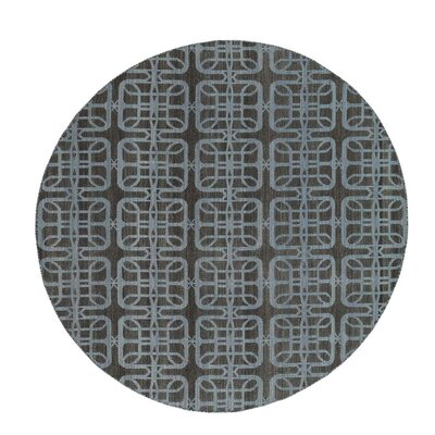 Reversible Flat Weave Durie Kilim Hand-Knotted Black Area Rug