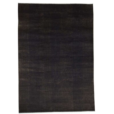 Nepali Oriental Hand-Knotted Silk Brown Area Rug