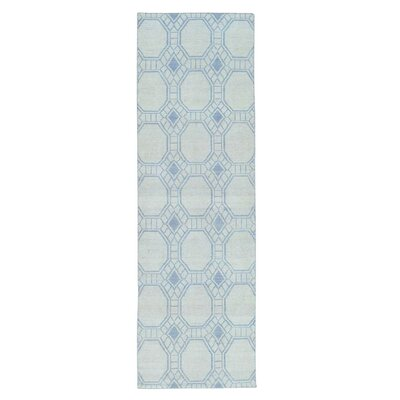 Flat Weave Reversible Kilim Hand-Knotted Ivory Area Rug