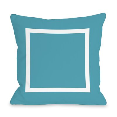 Duchene Open Box Outdoor Throw Pillow Color: Blue, Size: 18 x 18