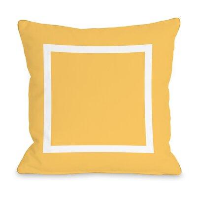 Duchene Open Box Outdoor Throw Pillow Color: Dandelion, Size: 16 x 16