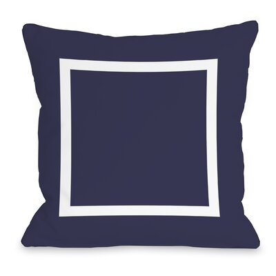 Duchene Open Box Outdoor Throw Pillow Color: Midnight, Size: 16 x 16