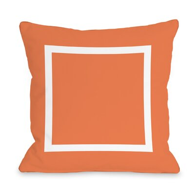 Duchene Open Box Outdoor Throw Pillow Color: Orange, Size: 18 x 18