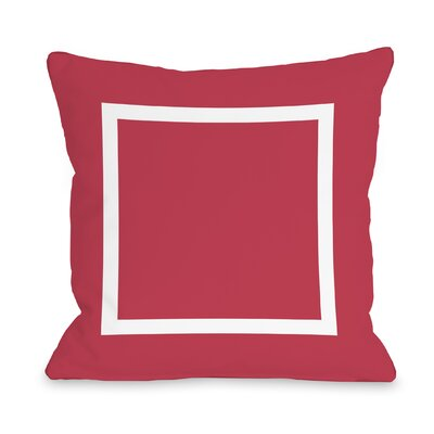 Duchene Open Box Outdoor Throw Pillow Color: Rose, Size: 16 x 16