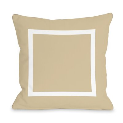 Duchene Open Box Outdoor Throw Pillow Color: Sand, Size: 16 x 16