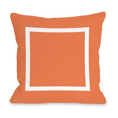 Duchene Open Box Outdoor Throw Pillow Color: Tangerine, Size: 16 x 16