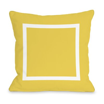 Duchene Open Box Outdoor Throw Pillow Color: Yellow, Size: 16 x 16