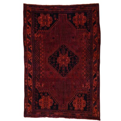 One-of-a-Kind Greenawalt Overdyed Shiraz Vintage Oriental Hand-Knotted Area Rug