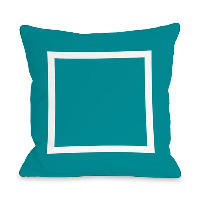 Duchene Open Box Outdoor Throw Pillow Color: Aqua Blue, Size: 16 x 16