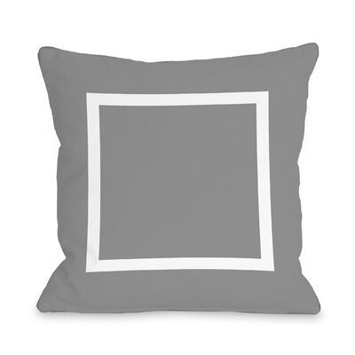 Duchene Open Box Outdoor Throw Pillow Color: Gray, Size: 18 x 18