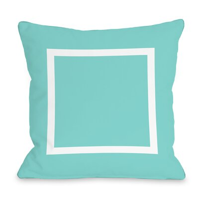 Duchene Open Box Outdoor Throw Pillow Color: Teal Blue, Size: 18 x 18