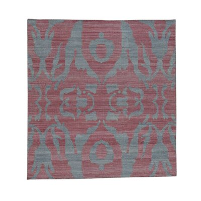 Flat Weave Reversible Kilim Hand-Knotted Gray Area Rug