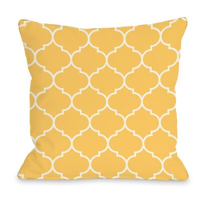 East Village Repeating Moroccan Outdoor Throw Pillow Color: Dandelion, Size: 16 x 16
