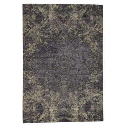 One-of-a-Kind Eddyville Abstract Hand-Knotted Silk Area Rug