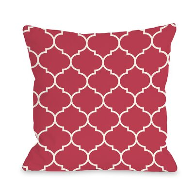 East Village Repeating Moroccan Outdoor Throw Pillow Color: Rose, Size: 16 x 16
