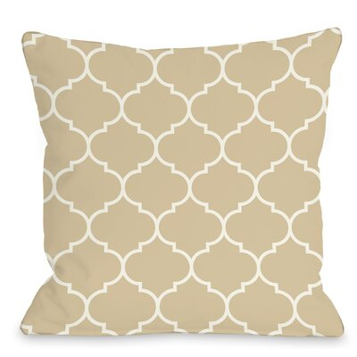 East Village Repeating Moroccan Outdoor Throw Pillow Color: Sand, Size: 16 x 16