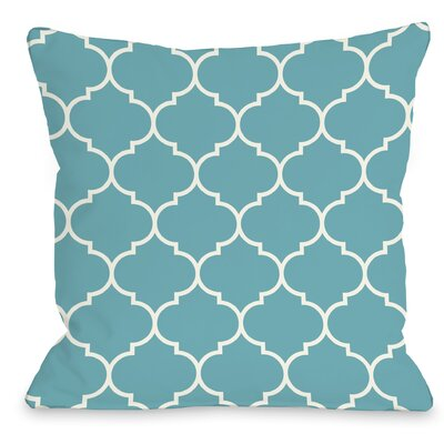 East Village Repeating Moroccan Outdoor Throw Pillow Color: Sky, Size: 16 x 16