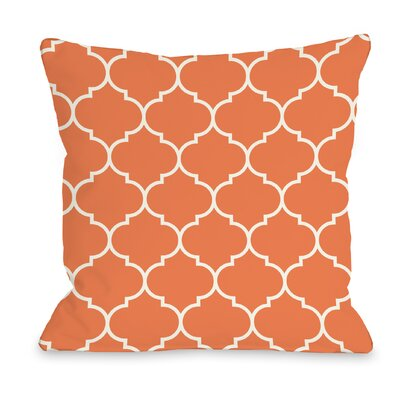 East Village Repeating Moroccan Outdoor Throw Pillow Color: Tangerine, Size: 16 x 16