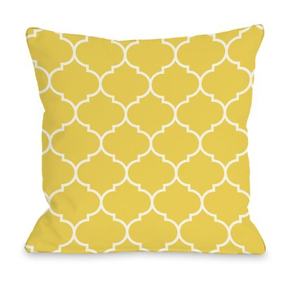 East Village Repeating Moroccan Outdoor Throw Pillow Color: Yellow, Size: 16 x 16
