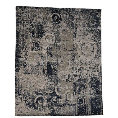 One-of-a-Kind Erik Abstract Hand-Knotted Silk Area Rug